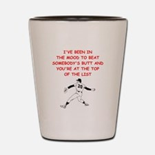 strat baseball Shot Glass