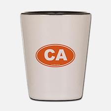 California CA Euro Oval Shot Glass