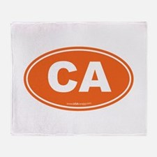 California CA Euro Oval Throw Blanket