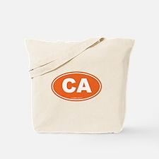 California CA Euro Oval Tote Bag