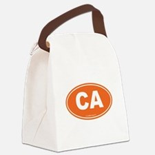 California CA Euro Oval Canvas Lunch Bag