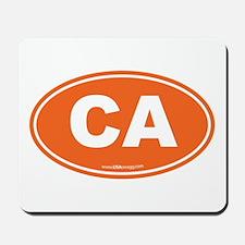 California CA Euro Oval Mousepad