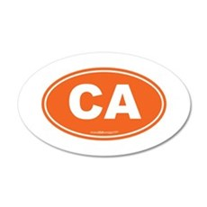 California CA Euro Oval Wall Decal