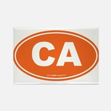 California CA Euro Oval Rectangle Magnet (10 pack)