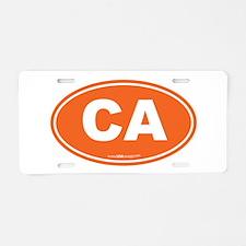 California CA Euro Oval Aluminum License Plate