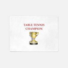 table tennis joke 5'x7'Area Rug