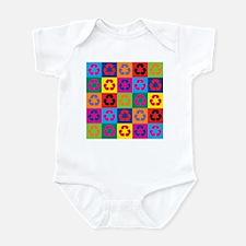 Pop Art Recycling Infant Bodysuit