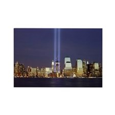 WTC Memorial Lights Rectangle Magnet