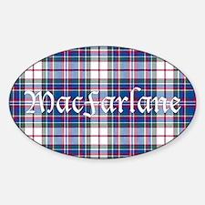 Tartan-MacFarlane dress Sticker (Oval)