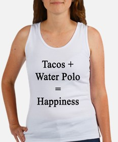 Tacos + Water Polo = Happiness  Women's Tank Top