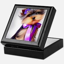 ByCatiaCho Yorkie Violet Keepsake Box
