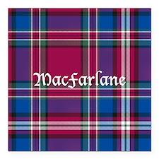 "Tartan - MacFarlane Square Car Magnet 3"" x 3"""