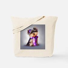 ByCatiaCho Yorkie Violet Tote Bag