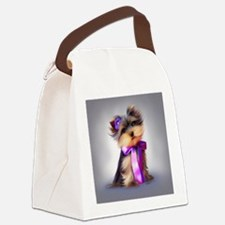 ByCatiaCho Yorkie Violet Canvas Lunch Bag