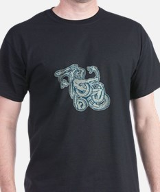Hercules Fighting Hydra Club T-Shirt