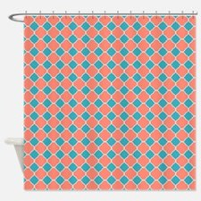turquoise and coral shower curtains turquoise and coral