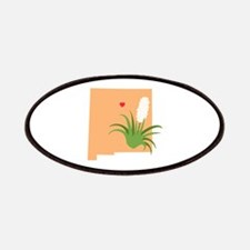 New Mexico State Outline Yucca Flower Patch