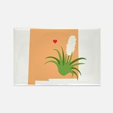 New Mexico State Outline Yucca Flower Magnets