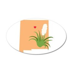 New Mexico State Outline Yucca Flower Wall Decal