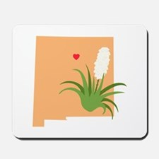 New Mexico State Outline Yucca Flower Mousepad
