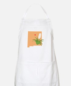 New Mexico State Outline Yucca Flower Apron