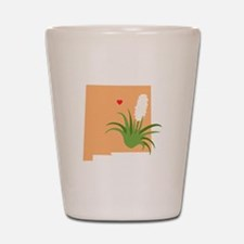 New Mexico State Outline Yucca Flower Shot Glass