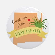 New Mexico State Outline Yucca Flower Greetings Or