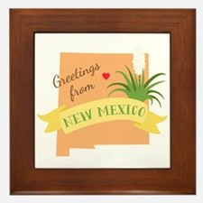 New Mexico State Outline Yucca Flower Greetings Fr