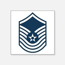 "Funny Usaf chief master sergeant Square Sticker 3"" x 3"""