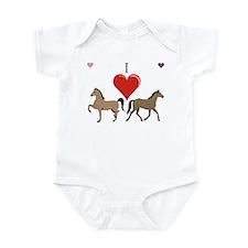 Cute Horse breeds Infant Bodysuit