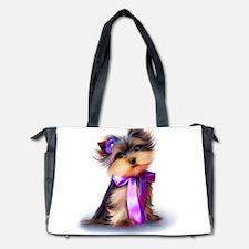 ByCatiaCho Yorkie Violet Diaper Bag
