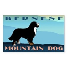 Bernese Blue Mountain Rectangle Decal