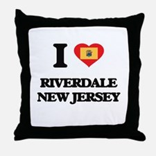 I love Riverdale New Jersey Throw Pillow