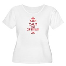 Keep Calm and Optimum ON Plus Size T-Shirt