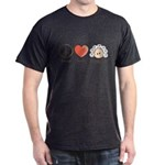 Peace Love Heart Beethoven T-Shirt Grey