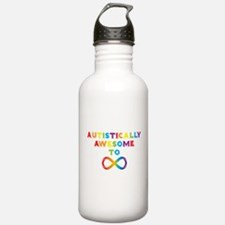 Autistically Awesome To Infinity Water Bottle