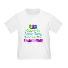 Easter Bunny Doesn't Bestefar Will T-Shirt