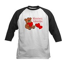 Memere's Valentine Cartoon Bear Baseball Jersey