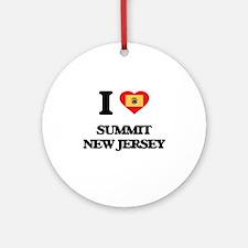 I love Summit New Jersey Ornament (Round)