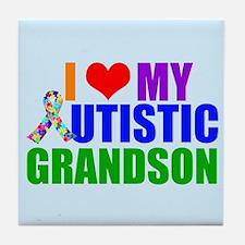 Autistic Grandson Tile Coaster