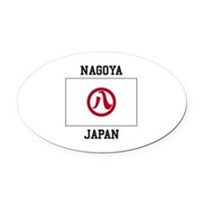Nagoya Japan Oval Car Magnet