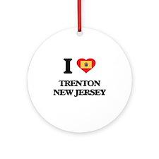 I love Trenton New Jersey Ornament (Round)