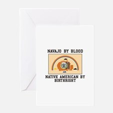 Navajo Blood Greeting Cards