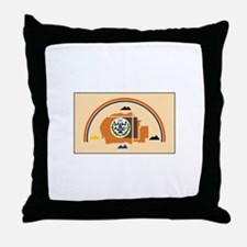 Navajo Nation Flag Throw Pillow