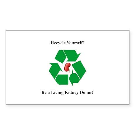 Living Organ Donor Rectangle Sticker
