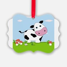 Cow in a Field Ornament
