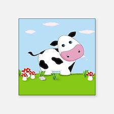 Cow in a Field Sticker