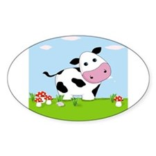 Cow in a Field Decal