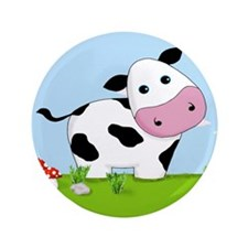 """Cow in a Field 3.5"""" Button (100 pack)"""