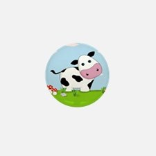 Cow in a Field Mini Button (10 pack)